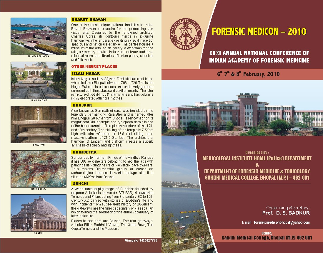Forthcoming Forensic Conferences: Anil Aggrawal's Internet Journal ...